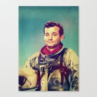 murray Canvas Prints featuring Space Murray by rubbishmonkey