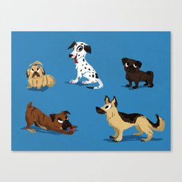 Dog Friends Canvas Print
