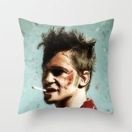 Tyler Cigarette Painting Throw Pillow