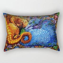 Baby Dragons Fantasy Art Drawing Rectangular Pillow