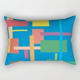 Imitation Blue Mid-20th Century Abstract Rectangular Pillow