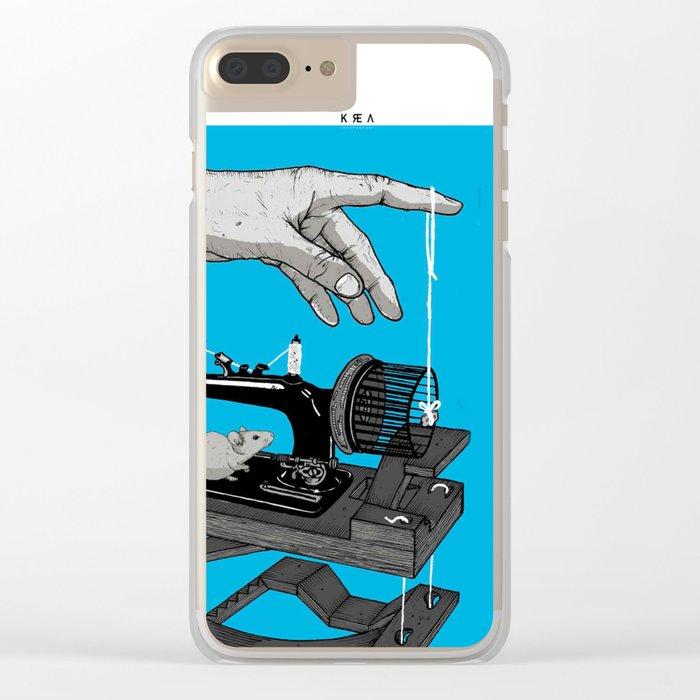 Mechanical rat Clear iPhone Case