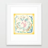 mermaid Framed Art Prints featuring Mermaid by famenxt