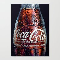 coca cola Canvas Prints featuring The Real... by LesImagesdeJon