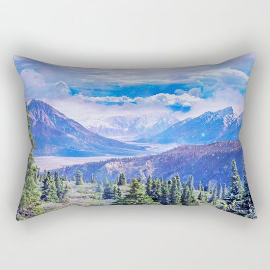Neverland mountains Rectangular Pillow