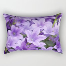 DREAMY - Purple flowers - Bellflower in the sun #1 Rectangular Pillow