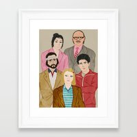royal tenenbaums Framed Art Prints featuring Royal Tenenbaums by Adam Vass