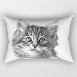 Maine Coon kitten G114 Rectangular Pillow