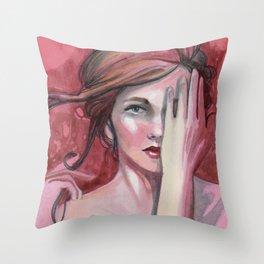strawberry flirt Throw Pillow
