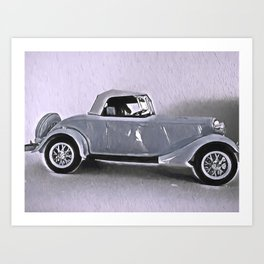 Driving Along In My Automobile Art Print