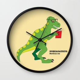 Dorkasaurus Wall Clock