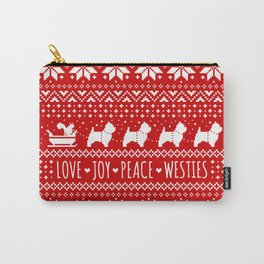 Love Joy Peace Westies | West Highland White Terriers Christmas Carry-All Pouch