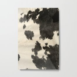 Black & White Cow Hide Metal Print
