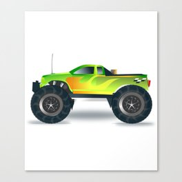 Monster Truck Toy Design Canvas Print