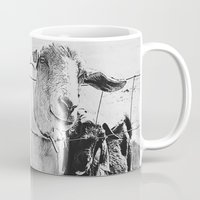 goat Mugs featuring Goat by Leah Flores