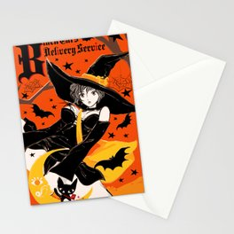 Black Cat's Delivery Service Stationery Cards