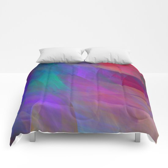Color flames, artistic fractal abstract Comforters