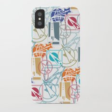 Space Badges iPhone X Slim Case