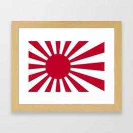 Japanese Flag Framed Art Print