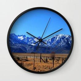 Snowy Sierras Wall Clock