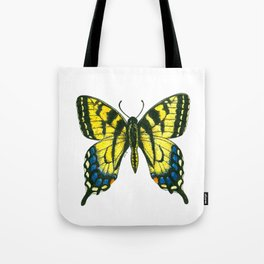 Tiger swallowtail butterfly watercolor and ink Tote Bag