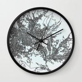 La Paz, Bolivia, White, City, Map Wall Clock