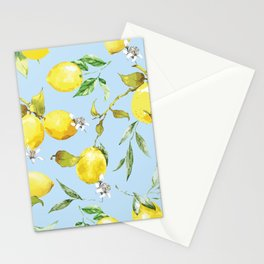 Watercolor lemons 10 Stationery Cards