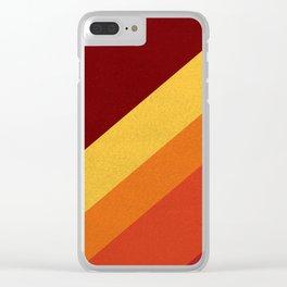 Retro 70s Color Palette II Clear iPhone Case