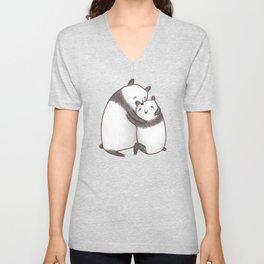 Panda Cuddle Unisex V-Neck