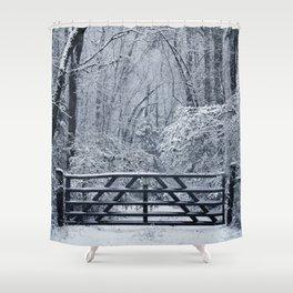 Snowy Entrance Shower Curtain
