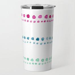 watercolor dots Travel Mug