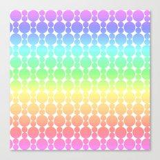 Rainbow-colored Circle Pattern Canvas Print