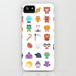 CUTE HALLOWEEN COSTUME FALL PATTERN iPhone Case