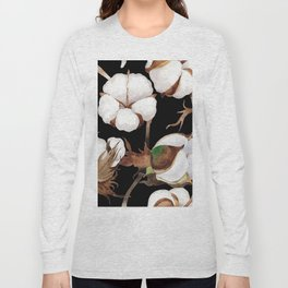 Cotton Flower Pattern 03 Long Sleeve T-shirt