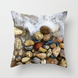 Stones at the beach Throw Pillow