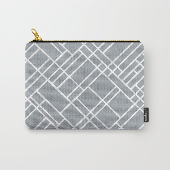 Map Outline Grey 45 Carry-All Pouch