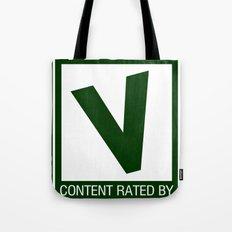 Rated V for Vegan Tote Bag