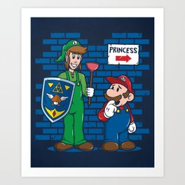 Your Princess is in Another Castle Art Print