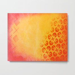 Firery Flowering Metal Print