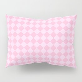 Pink Lace Pink and Cotton Candy Pink Diamonds Pillow Sham