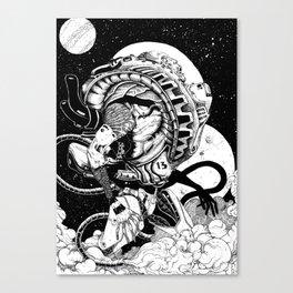 doomed astronaut Canvas Print