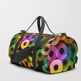 Bright abstract rings Duffle Bag