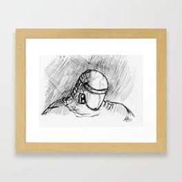 Warbot Sketch #055 Framed Art Print