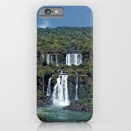 Iguazu Iguassu Waterfall Landscape Panorama Scenery, Brazil Argentina 11 iPhone Case