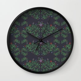 Ornamental floral background. Seamless pattern for your design wallpapers, pattern fills, web page b Wall Clock