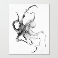 fish Canvas Prints featuring Octopus by Alexis Marcou