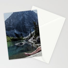 Male Nude Sun Bathing Oil Stationery Cards