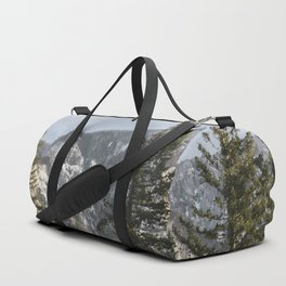 Mountains Through The Forest - Nature Photography Duffle Bag