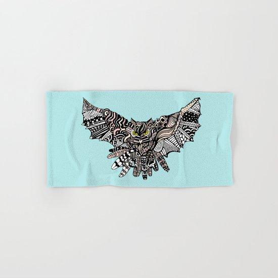 Dragon Owl (Color) Hand & Bath Towel