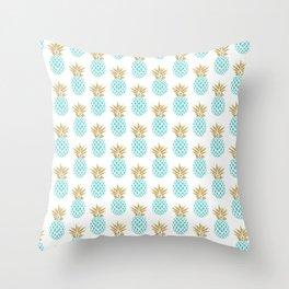 Elegant faux gold pineapple pattern Throw Pillow
